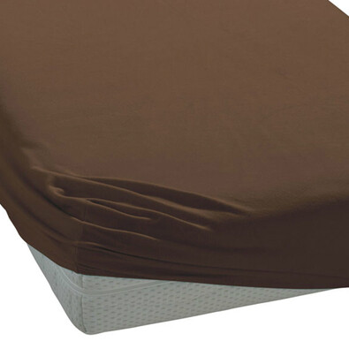 BedTex froté prostěradlo tmavě hnědá, 180 x 200 cm