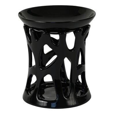 Keramická aromalampa černá