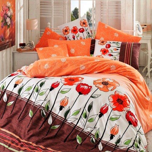 BedTex Bavlnené obliečky Amanda lososová, 220 x 200 cm, 2 ks 70 x 90 cm