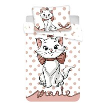 Gyermek pamut ágynemű kiságyba Marie cat dots 02 baby, 100 x 135 cm, 40 x 60 cm