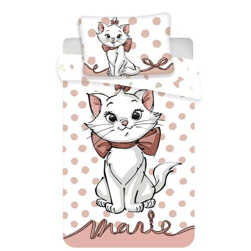 Detské bavlnené obliečky do postieľky Marie cat dots 02 baby, 100 x 135 cm, 40 x 60 cm