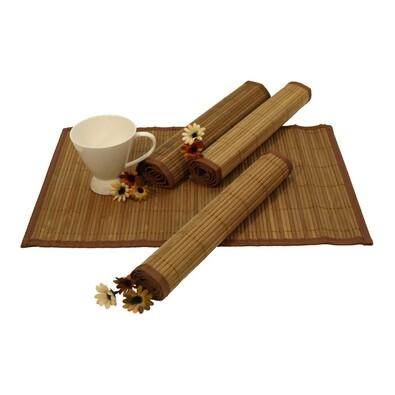 Bambusové prostírání sv. hnědá, 30 x 45 cm, sada 4 ks