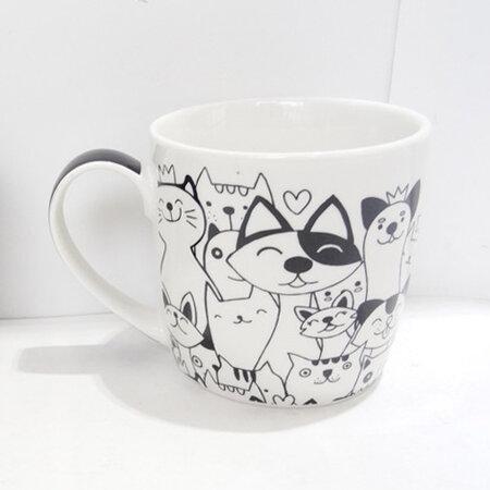 Altom Porcelánový hrnek White cat, 250 ml