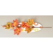 Jesenná vetvička s bobuľami a piatimi listami, 40 cm