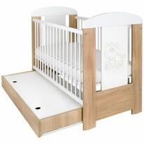 New Baby Dětská postýlka se šuplíkem Medvídek s hvězdičkou, 123 x 65 x 98 cm