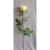 Sztuczna róża, biały, 69 cm