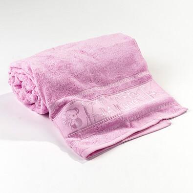 Ręcznik kąpielowy Panda różowy, 70 x 140 cm