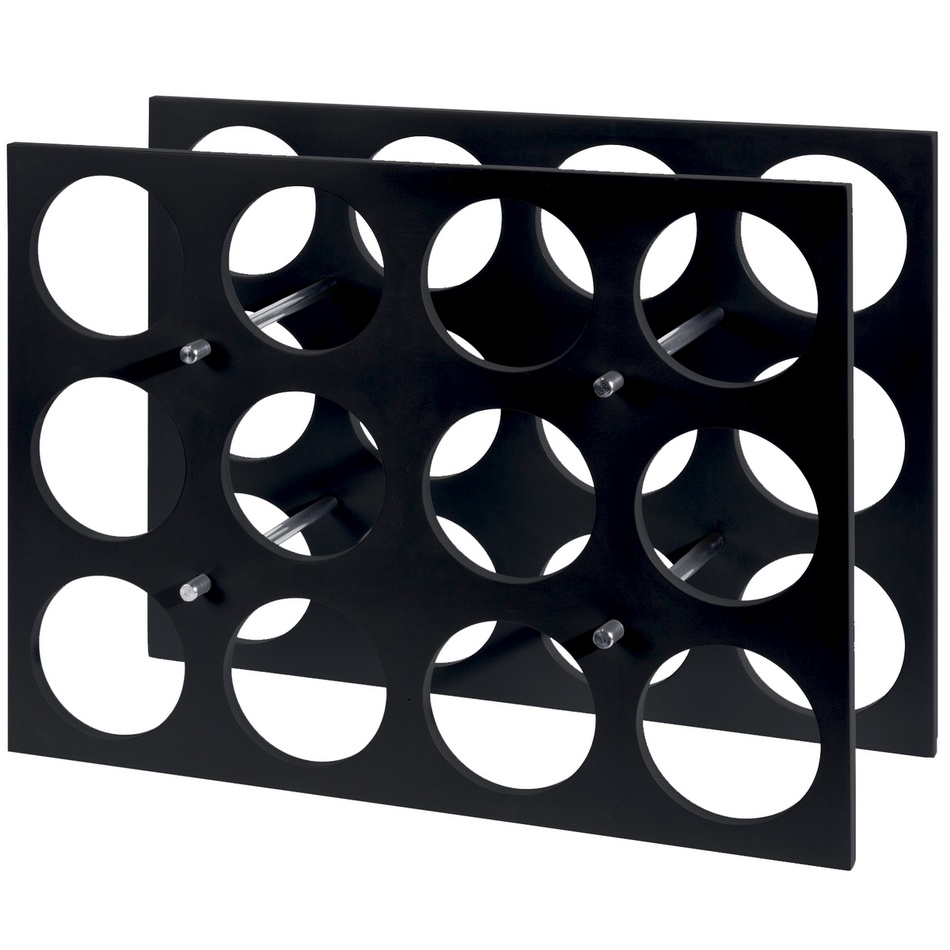 Stojan na lahve Elegant 45 x 34 x 16 cm, MDF černá