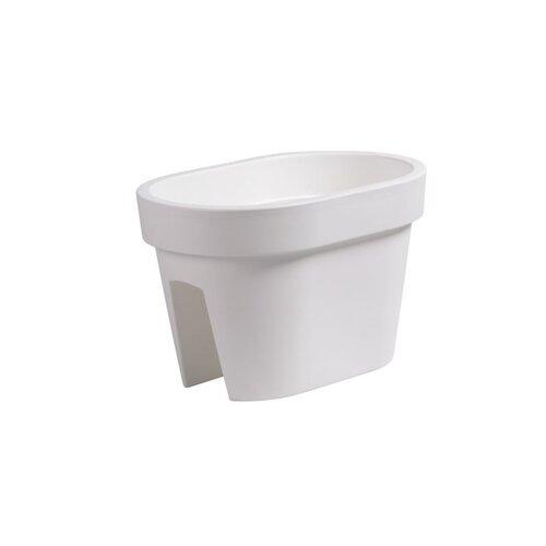 Ghiveci de balustradă Lofly Railing, alb, 40 cm imagine 2021 e4home.ro