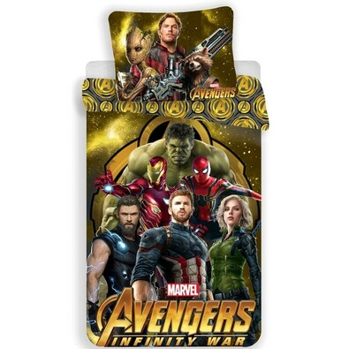 Avengers Infinity War pamut ágynemű, 140 x 200 cm, 70 x 90 cm