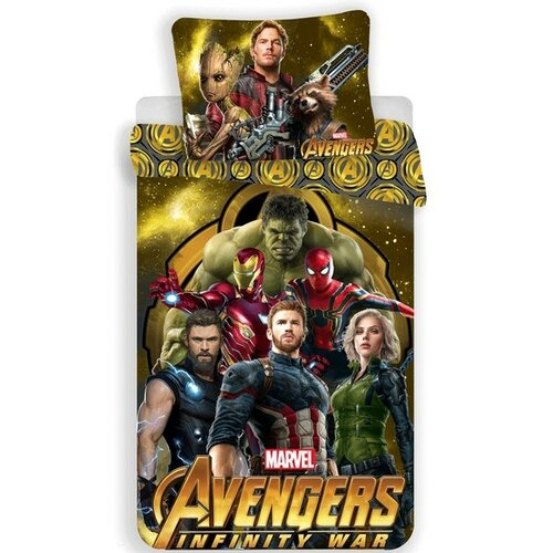 Jerry Fabrics Bavlněné povlečení Avengers Infinity War, 140 x 200 cm, 70 x 90 cm