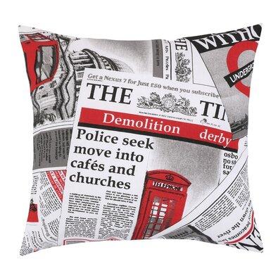 Pernuță Ema Ziare roșu, 45 x 45 cm