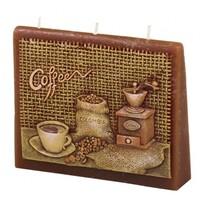 Vonná svíčka Káva obálka, 13 x 11 x 4 cm