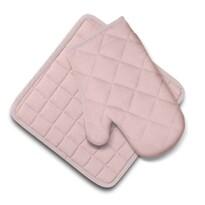 Set Domarex Ollie, mănușă și suport de bucătărie,roz