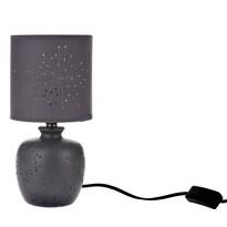 Keramická stolná lampa Galaxy, tm. sivá, 13 x 26,5 x 13 cm
