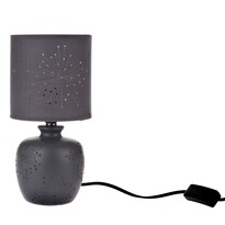 Keramická stolní lampa Galaxy, tm. šedá, 13 x 26,5 x 13 cm