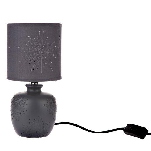 Galaxy kerámia asztali lámpa, fekete, 13 x 26,5 x 13 cm