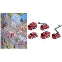 Koopman Dětský hrací set Požární stanice, 5 ks