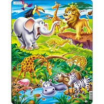Larsen Puzzle Szafari, 18 darab