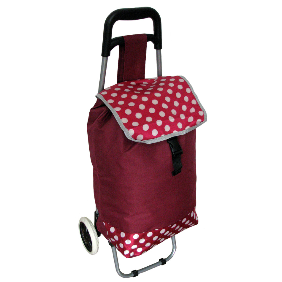 Nákupní taška na kolečkách Puntík, vínová