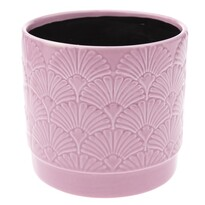 Shells kerámia virágtartó kaspó, rózsaszín, 13,5 x 12,5 x 12 cm