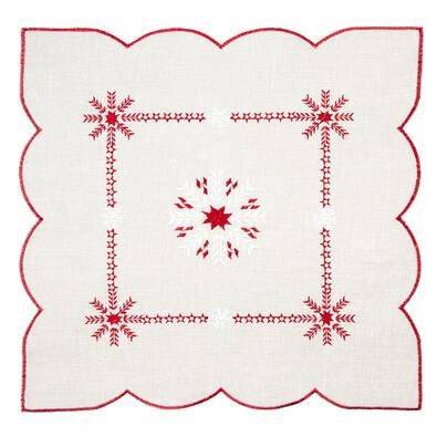 Serweta świąteczna Płatki śniegu, 35 x 35 cm