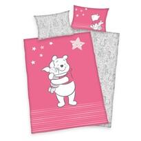 Gyermek pamut ágynemű kiságyba Winnie Pooh Friends, 100 x 135 cm, 40 x 60 cm