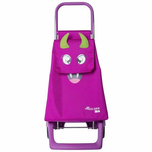 Rolser Detská nákupná taška na kolieskach Monster MF Joy-1700, ružová