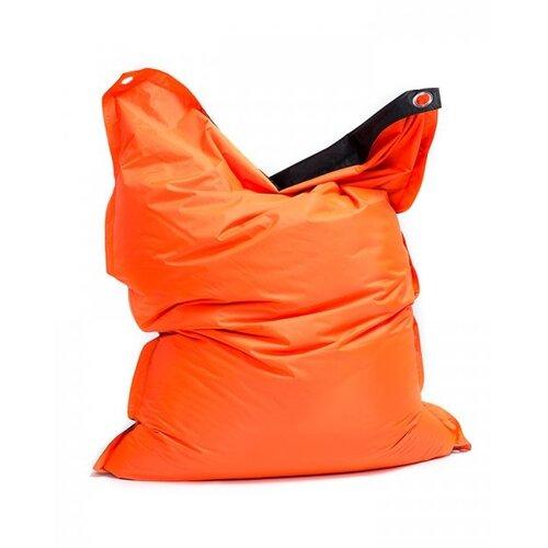 Sedací pytel s popruhy Orange - Black 181 x 141 cm