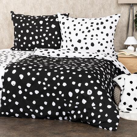 4Home Bavlněné povlečení  Dalmatin černobílá, 220 x 200 cm, 2 ks 70 x 90 cm