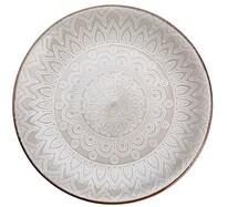Florina Keramický dezertní talíř Maroko 20 cm, šedá