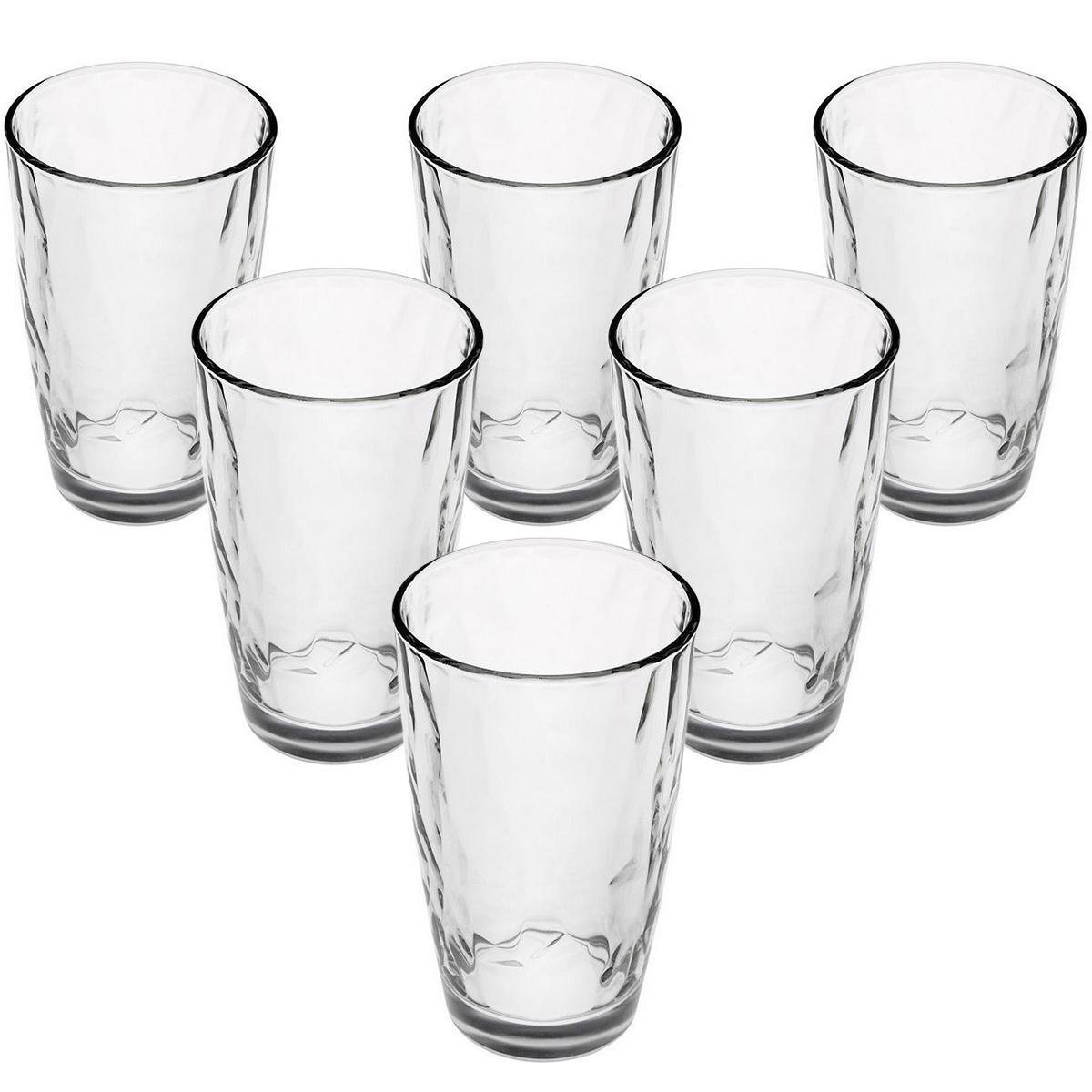 Bormioli Rocco 6dílná sada sklenic na long drink Kaleido, 370 ml