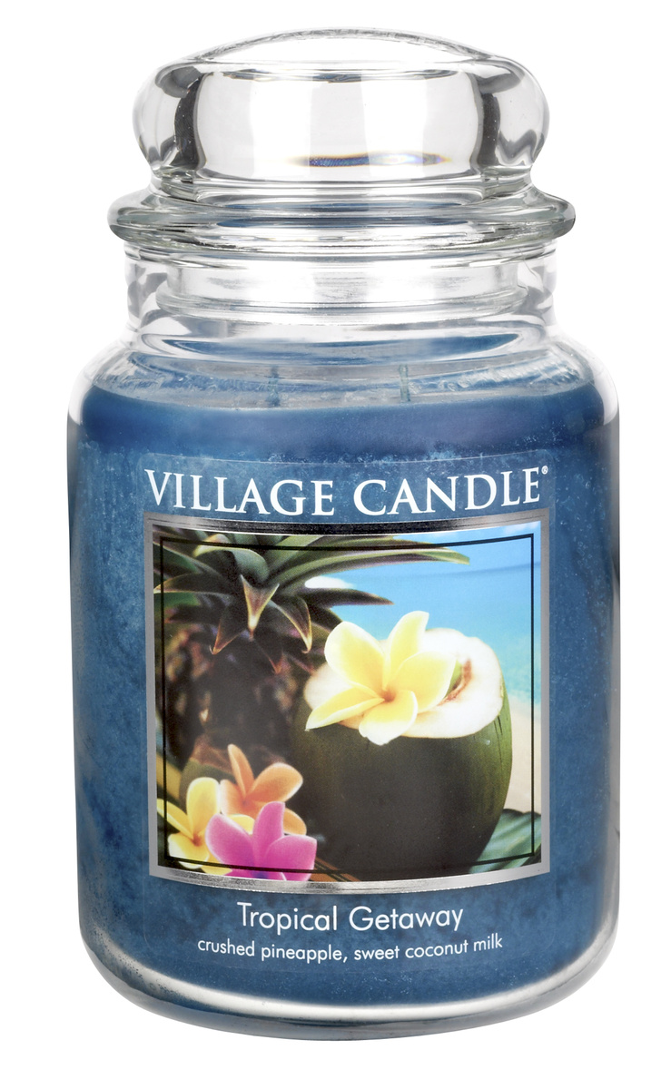 Village Candle Vonná svíčka ve skle, Víkend v tropech - Tropical Getaway, 645 g, 645 g