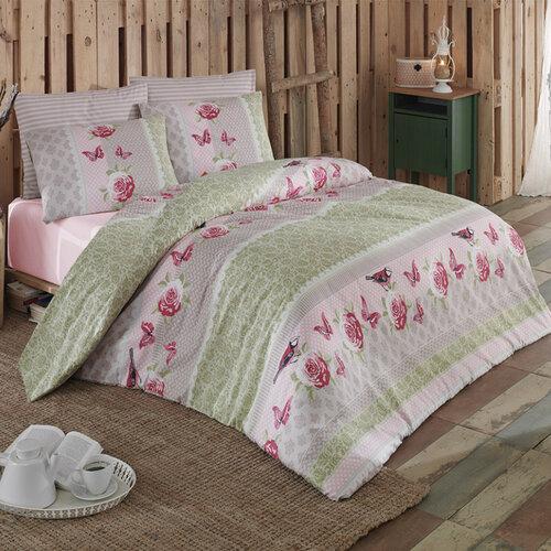 Tip Trade Bavlnené obliečky Sofya Green, 220 x 200 cm, 2 ks 70 x 90 cm, 220 x 200 cm, 2 ks 70 x 90 cm