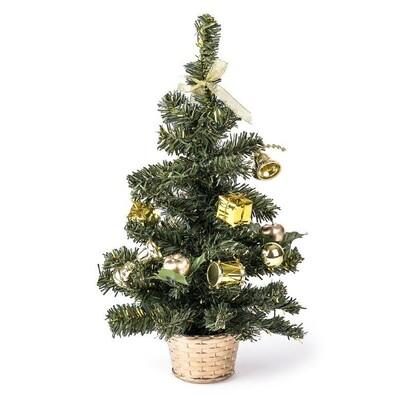 Vánoční stromeček zdobený zlatá