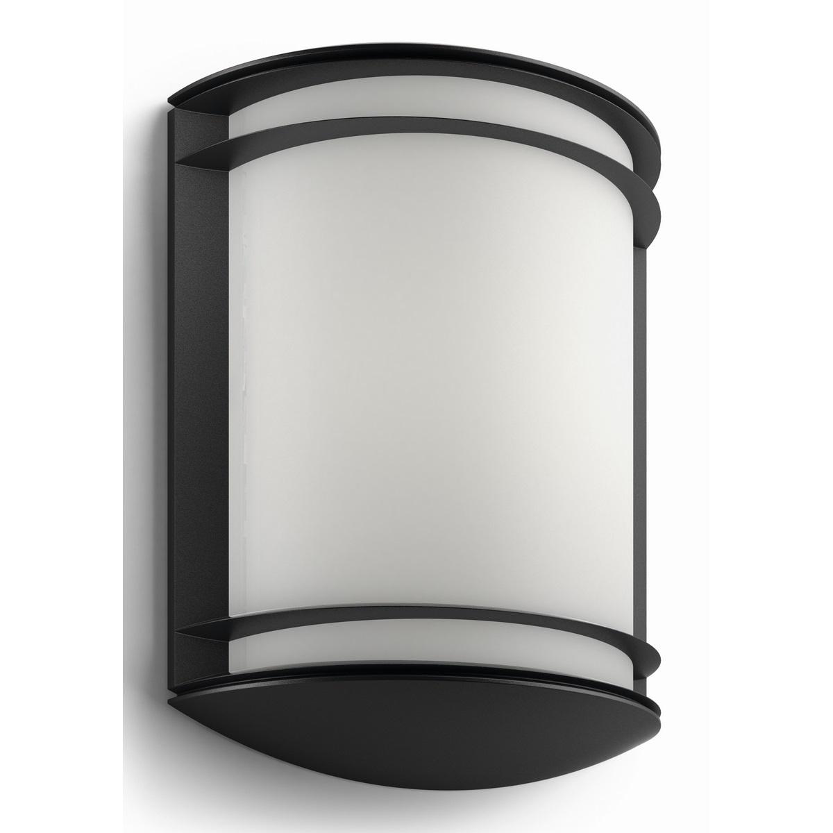 Philips 17320/30/P3 Antelope Vonkajšie nástenné LED svietidlo 28 cm, čierna
