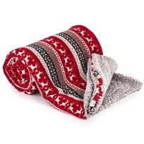 Pătură imitație blăniță Crăciun 4Home reni, 150 x 200 cm