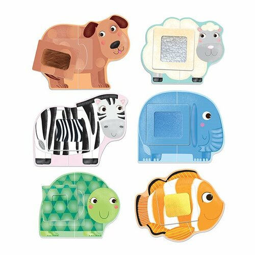Fotografie Headu Puzzle Dotkni se zvířátka (Montessori)