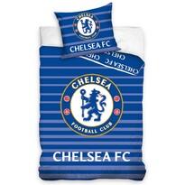Bavlněné povlečení FC Chelsea Stripes, 140 x 200 cm, 70 x 90 cm
