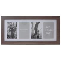 Fotorámeček na 4 fotografie Seia tmavě hnědá, 53 x 25 cm