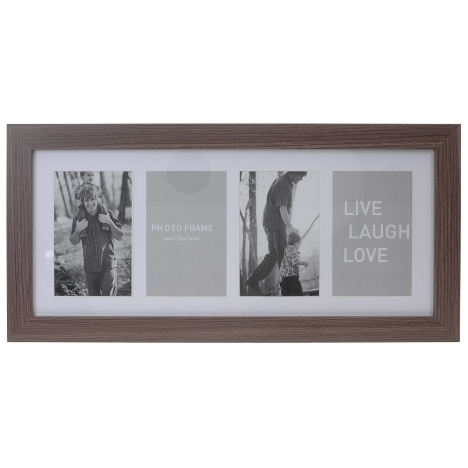 Koopman Fotorámeček na 4 fotografie Seia tmavě hnědá, 53 x 25 cm