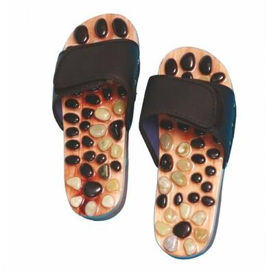 Akupresurní masážní pantofle s přírodními kameny vel. S, 36 - 38