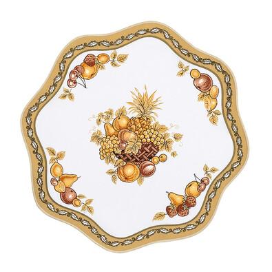 Ubrus ovoce zlatá, 35 cm