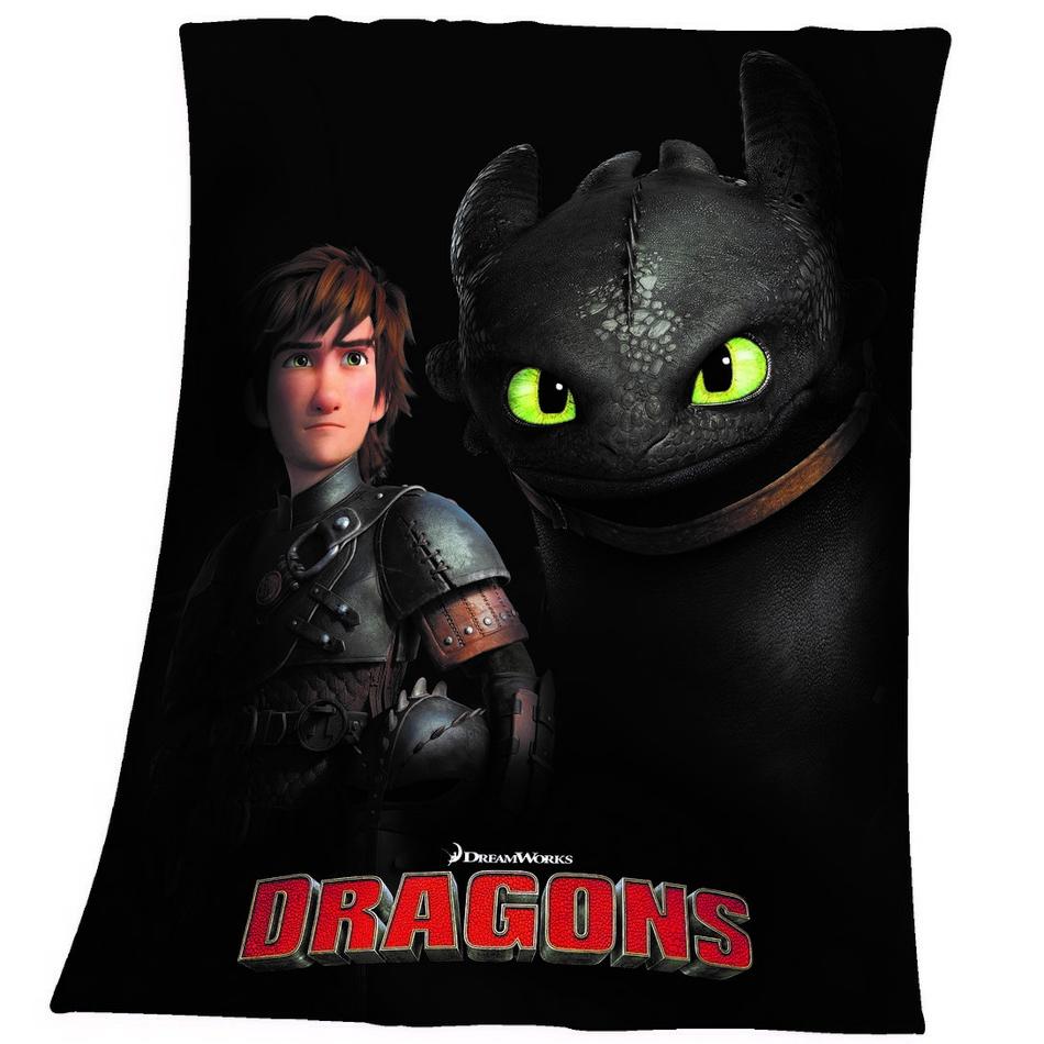 Herding Detská deka Ako vycvičiť draka Bezzubka, 130 x 160 cm
