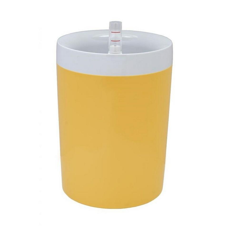Plastia Samozavlažovací kvetináč Calimera B2 17 cm, biela + žltá