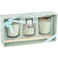 Sada svíček a difuzéru Aroma di Rogito Fresh lemon, 3 ks