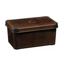 Curver Dekorativní úložný box S Leather, hnědá