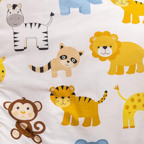Detské bavlnené obliečky do postieľky Zoo, 90 x 140 cm, 45 x 65 cm