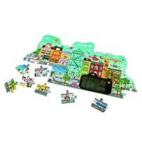 Hape Puzzle Animowane miasteczko w ruchu, 49 elementów