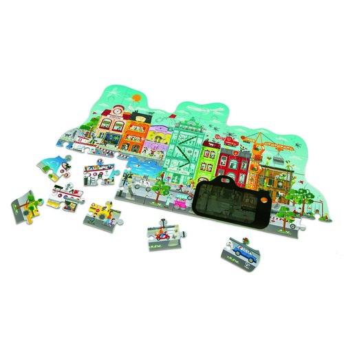 Hape Puzzle Animované mestečko v pohybe, 49 dielikov